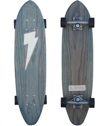 SALT SURF — DL Blue Lightning Bolt #skate #white #skateboarding #black