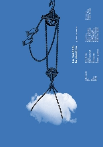 Albarracín : Isidro Ferrer #ferrer #huesca #spain #cloud #theatre #pulley #isidro #illustration #poster