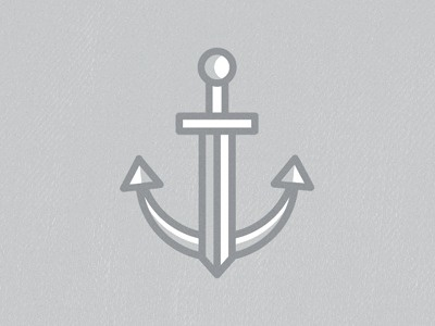 Dribbble - Stabbed To Depth by Michael Spitz #anchor #illustration