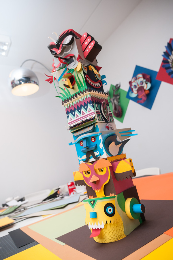 Paper Totem on Behance #totem #paper #variety