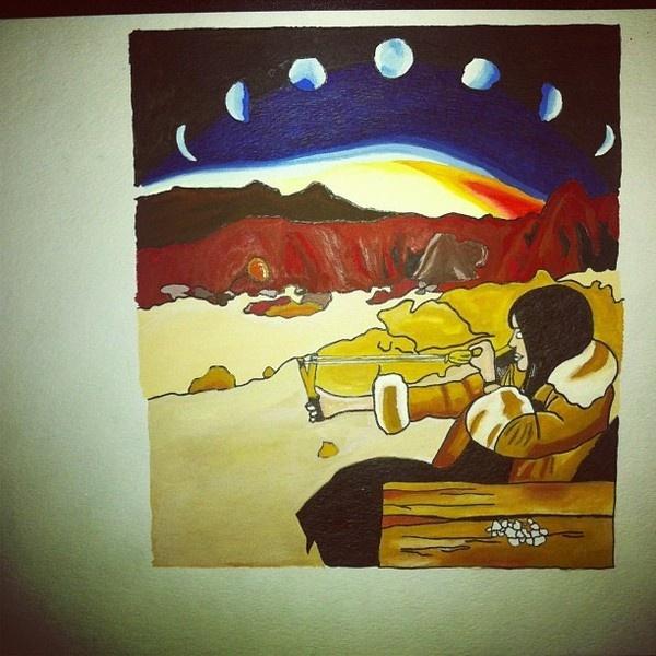 Moonchild - Watercolor #ink #moonchild #slingshot #illustration #painting #art #watercolor #desert