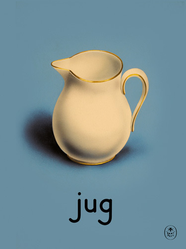 jug Art Print by Ladybird Books Easyart.com #print #design #retro #artprints #vintage #art #bookcover