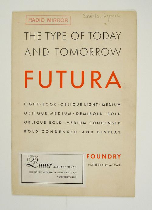 Book cover(1930's Futura Specimen Booklet, viaesperanzapinatelli) #cover #book #futura
