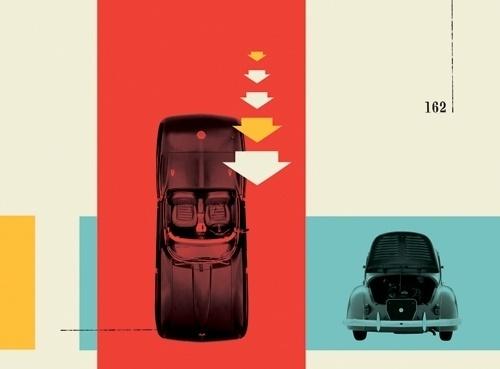 FOTOLITO — + Washington Post #red #yellow #retro #auto #cars #vintage #blue