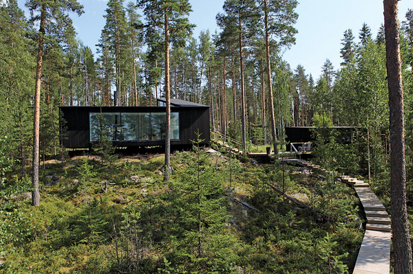 Lakeside House / NOW for Architecture and Urbanism #white #black #wood #architecture #houses