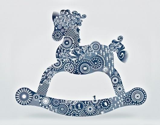 Martín Satí graphic workshop. Art direction + Graphic Design + Illustration #horses #sati #illustration