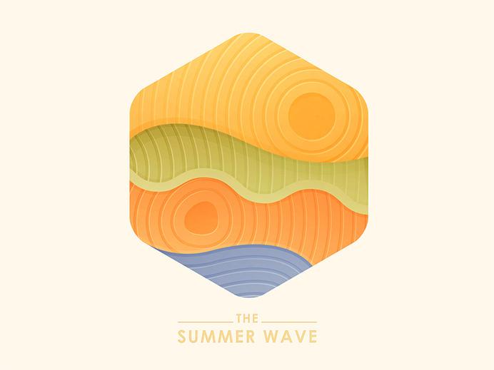 The_summer_wave #wave #illustration #summer #type #pastel