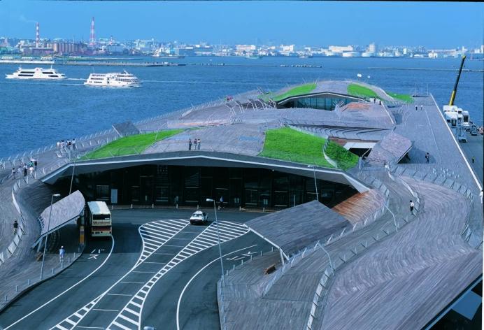 Yokohama Port Terminal, Foreign Office Architects #FOA #yokohama #port #japan