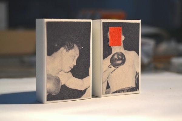 Asunción vs Nicola Brett / Collage on matchbox / Carlos Segura #matchbox #carlossegura #carlos #design #art #segura #collage