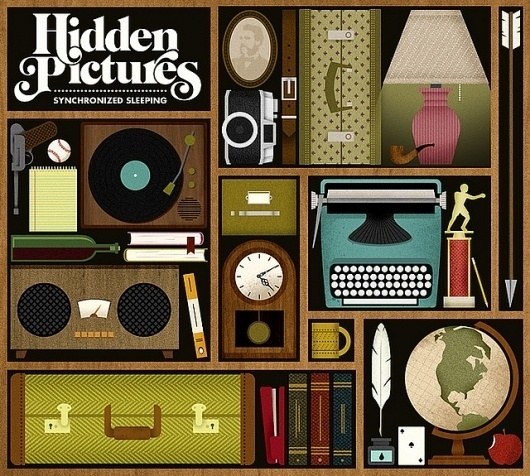 ALBUM ART: Hidden Pictures - Synchronized Sleeping   Flickr - Photo Sharing! #jordan #design #graphic #illustration #gray