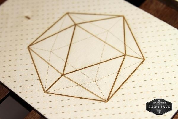 inspireworks #save #movement #wood #shift #polygonal #icosahedron #cameokid #postcard
