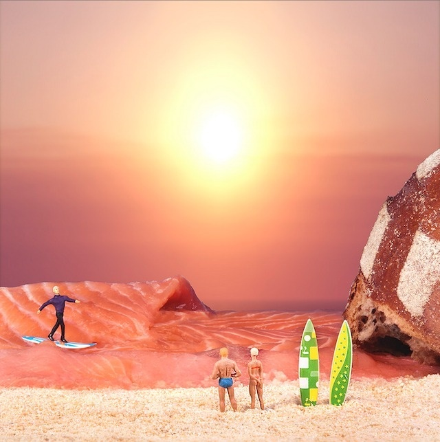 william-kass-5 #scale #surfing #salmon #world #food #photography #miniature