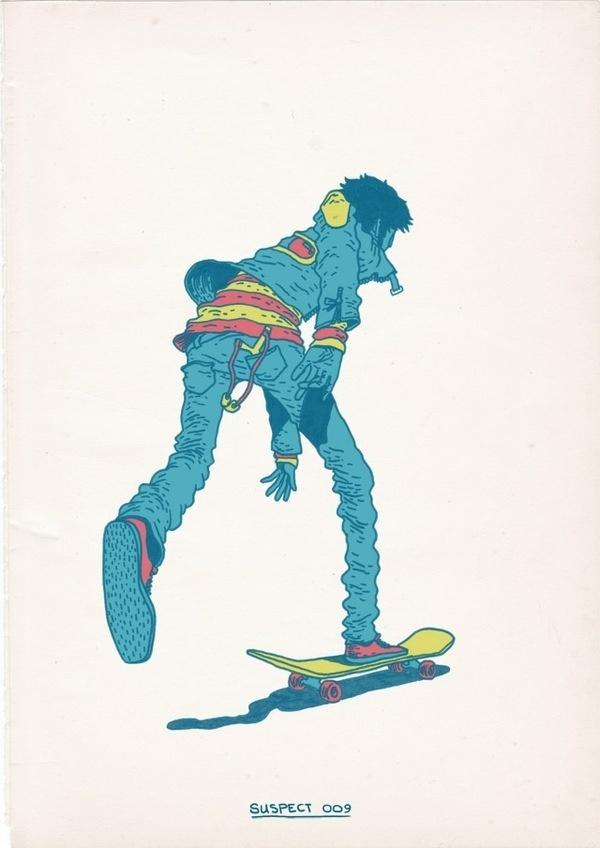 Skateboarding is a Crime on the Behance Network #illustration #skateboarding
