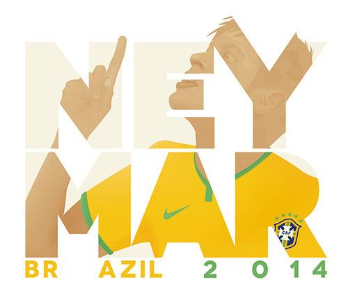 The awesome Neymar / Brazil / 2014 #world #neymar #illustration #2014 #football #brazil #cup
