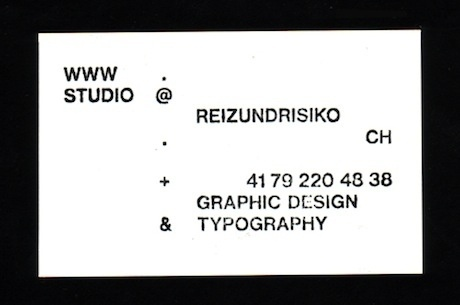 FFFFOUND! #typography #business card #minimal