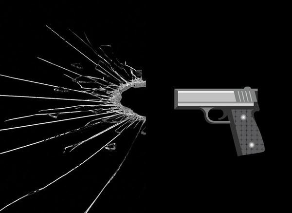 World of Darkness on the Behance Network #glass #dark #graphic #pistol