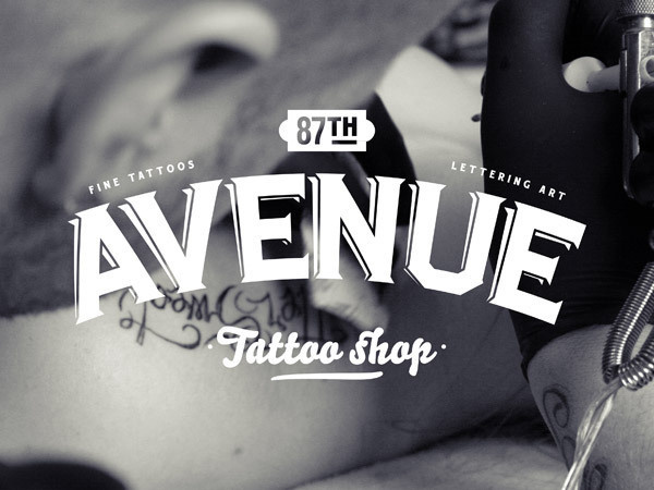 87th Avenue Tattoo shop on the Behance Network #av
