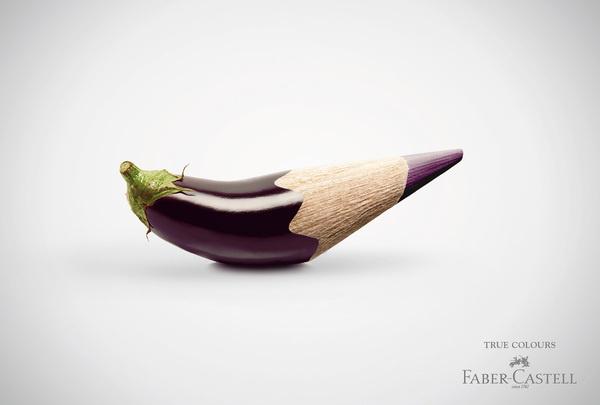 fabercastell truecolours aubergine #photography #3d #advertising