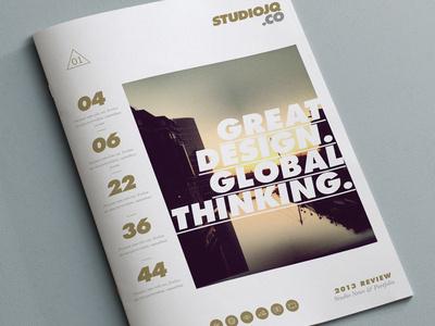 Concept 1 (Cover Portfolio) #portfolio #quintin #clean #bristol #studio #gold #studiojq #layout #editorial #brochure #typography