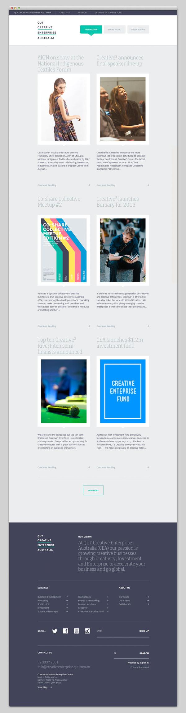 Creative Enterprise Australia #website #layout #design #web