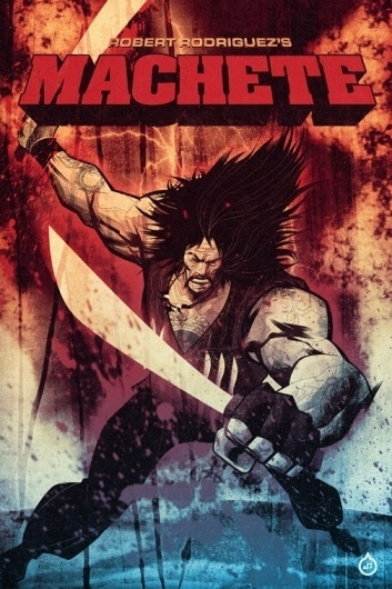 DC Comics / Misc. Cover Art on the Behance Network #illustration #machete #movie #poster