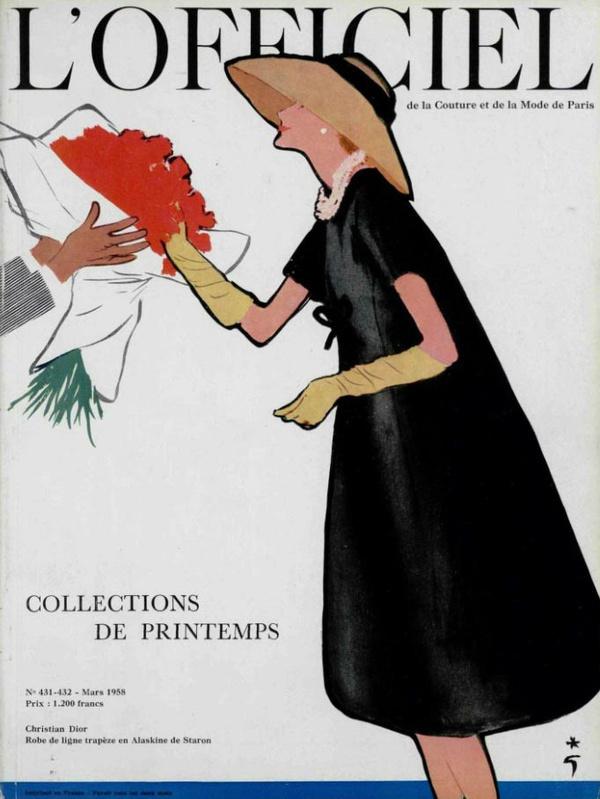 L`officiel no.431 432 1958 #fashion #illustration
