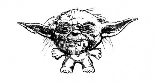Yoda #yoda #wars #illustration #figure #star