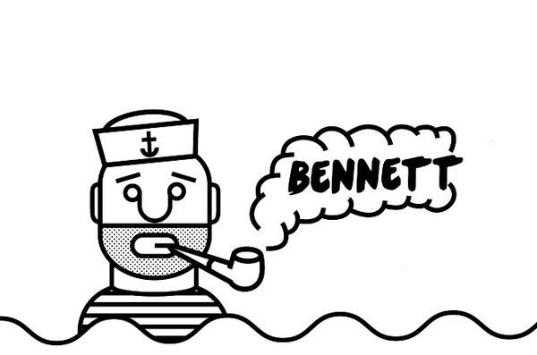 Bennett T-Shirt - Noah Mooney Design #sailor #band #pipe