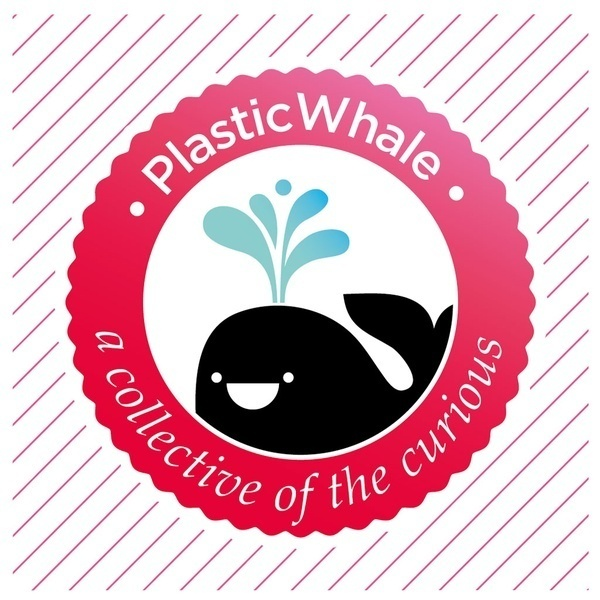 PLASTIC WHALE IS COLLECTING PLASTIC FROM THE WATER TO CREATE A BOAT OUT OF IT! #print #graphic #logo #illustration #type