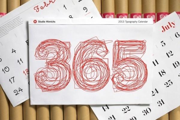 SH_2013_Cal #365 #calendar #red #typography