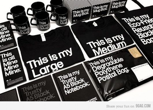 9GAG - This is my post. #typography