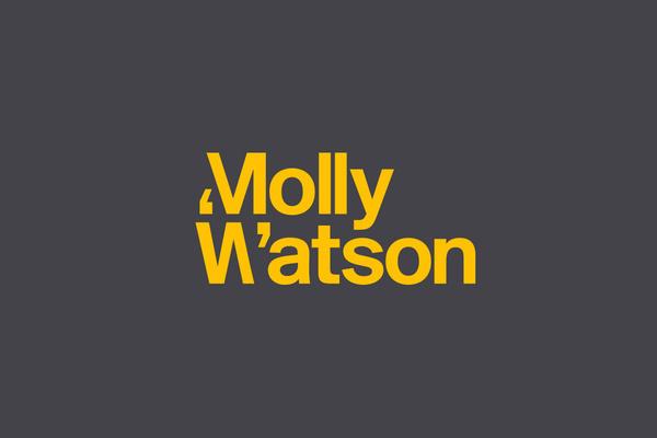 Logotype designed by Studio Blackburn for communications specialist Molly Watson #logo #molly #watson