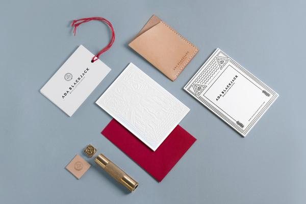 Ada Blackjack #branding #design #graphic #identity #stationery