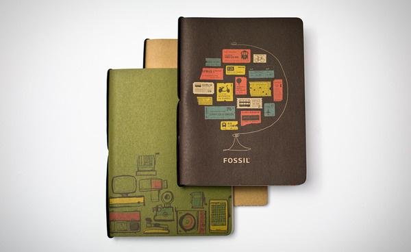 Brent Couchman Design #print #retro #journal #illustration #fossil #vintage #notebook