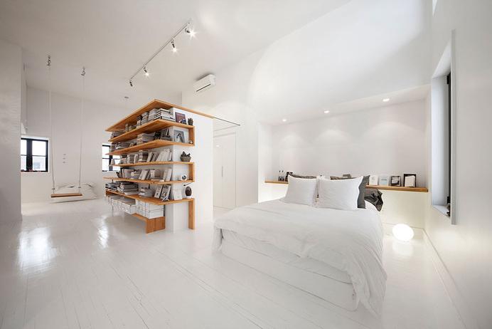 A Montreal Attic Converted Into An Artist's Studio | HUH. #white #studio #space