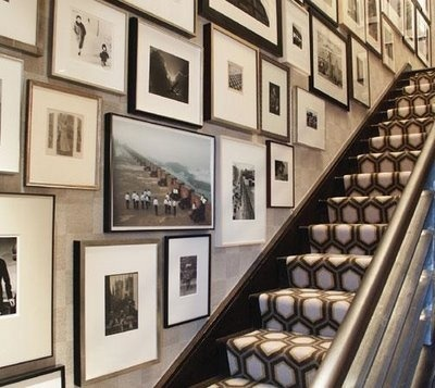Staircase gallery wall #picture #gallery