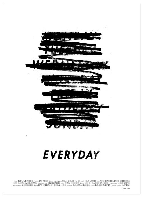 Typeverything.com Everyday promotion poster by Albin Holmqvist. #typography