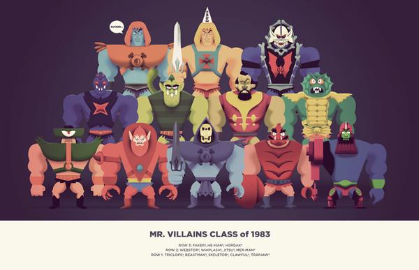 'Mr. Villains Class of 1983'. © Christopher Lee.