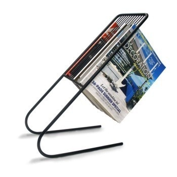 A refreshing take on magazine racks, the Float Magazine Rack elegantly hangs your magazines in an easy-to-find manner. #product #furniture #design #home