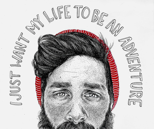 Oh, Pioneer! #adventure #illustration #man #face #life