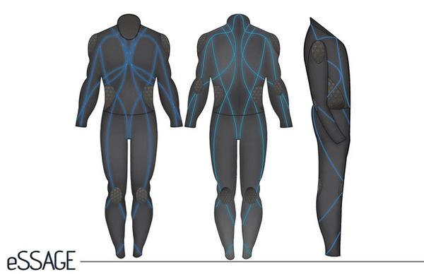 eSSAGE Suit #tech #amazing #modern #innovation #design #futuristic #gadget #ideas #craft #illustration #industrial #concept #art #cool