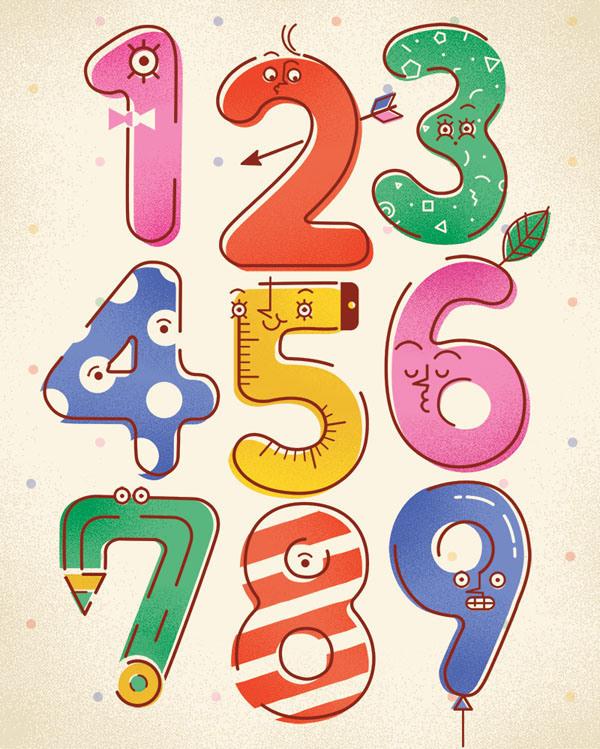 Numbers poster by justyna szczepankiewicz