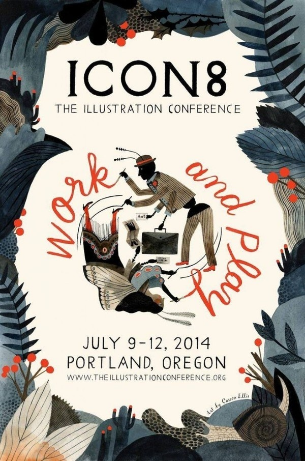 icon8 poster #illustration #conference #portland #poster