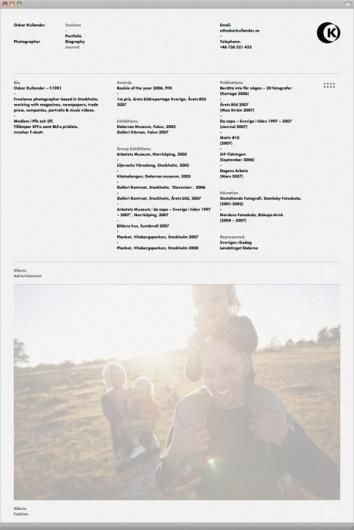 Oskar Kullander « Design Bureau – Lundgren+Lindqvist #oskar #lindqvist #website #lundgren #kullander #photographer