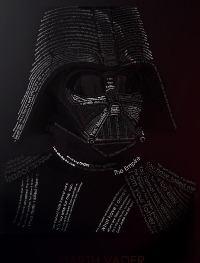 VADER typography by ~etrav689 on deviantART #typography
