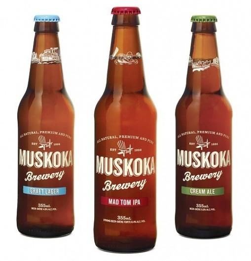 Muskoka Brewery : Lovely Package . Curating the very best packaging design. #brewery #muskoka