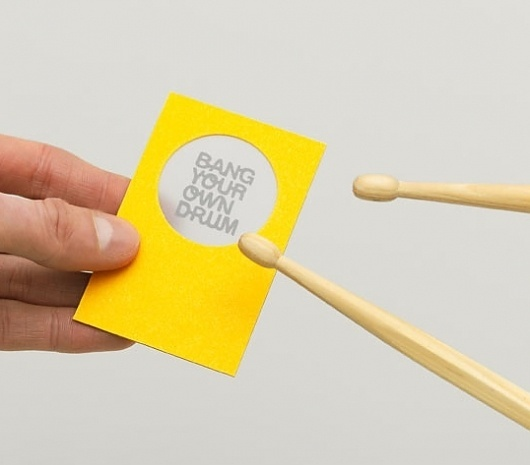 Bang Your Own Drum : Lovely Stationery . Curating the very best of stationery design #own #stationary #the #drum #your #consult #bang
