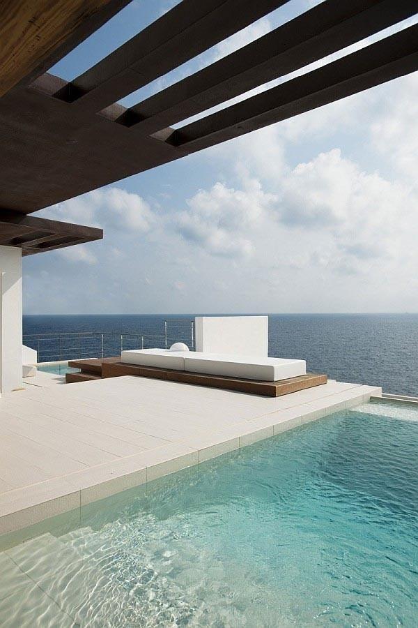 Ibiza Beach Villa with Sea View and Pool #ocean #white #pool #architecture #villa