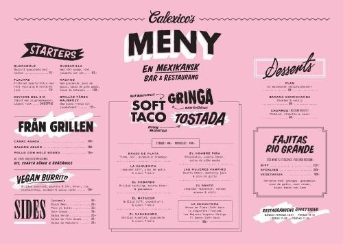 Art of the Menu: Calexico's #menu #branding