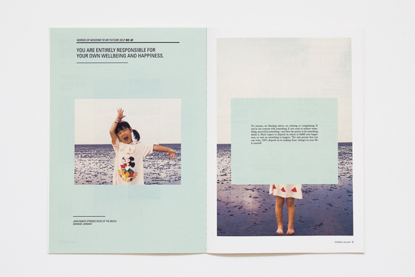 To My Future Self (D&AD New Blood) on Behance #layout